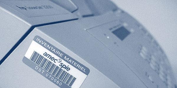 Barcode-Etiketten Inventar