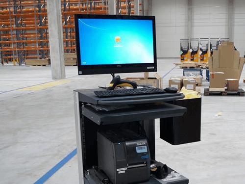 Mobiler Arbeitsplatz 1100 mit PC und Drucker
