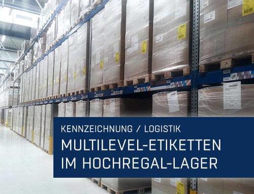 Multilevel-Etiketten im Hochregal