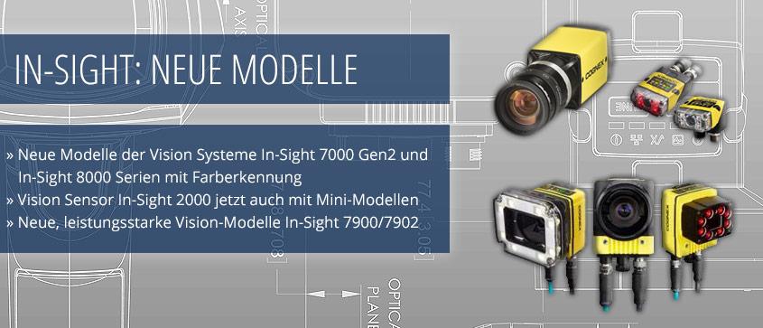 Neuheiten Cognex Insight Vision neue Modelle