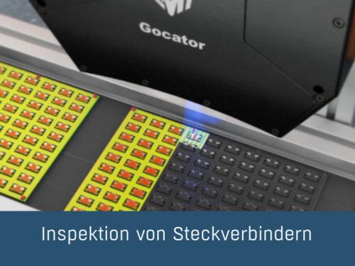Inspektion von Steckverbindern mit dem LMI Gocator 3504