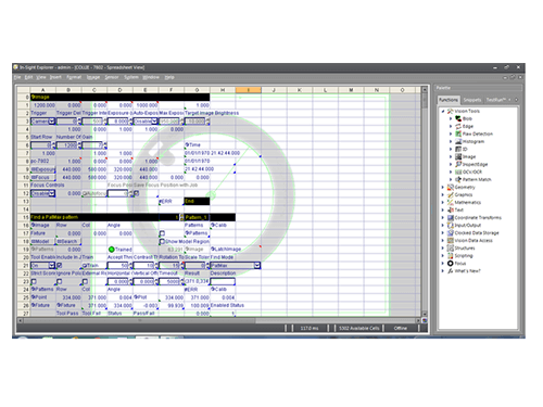 Cognex In-Sight Explorer Software Spreadsheet