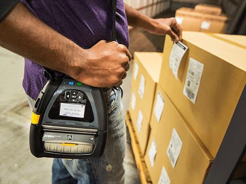 Zebra Mobiler Drucker QLN Serie Lagereinsatz