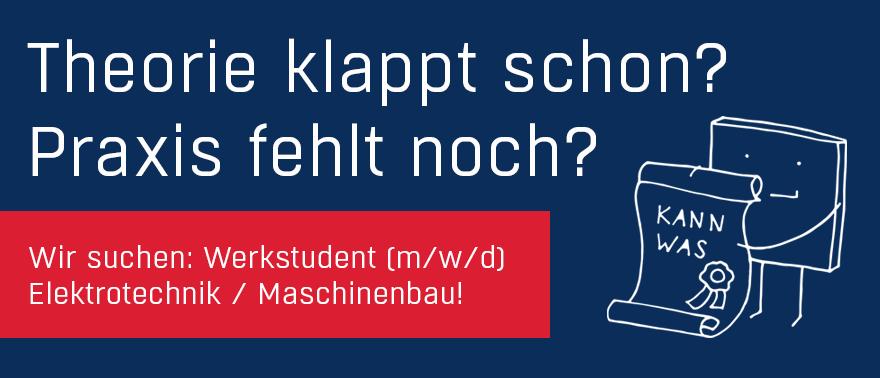 Newsmeldung Werkstudent Maschinenbau Elektrotechnik