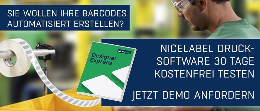 Werbebanner Barcode Generator NiceLabel Drucksoftware