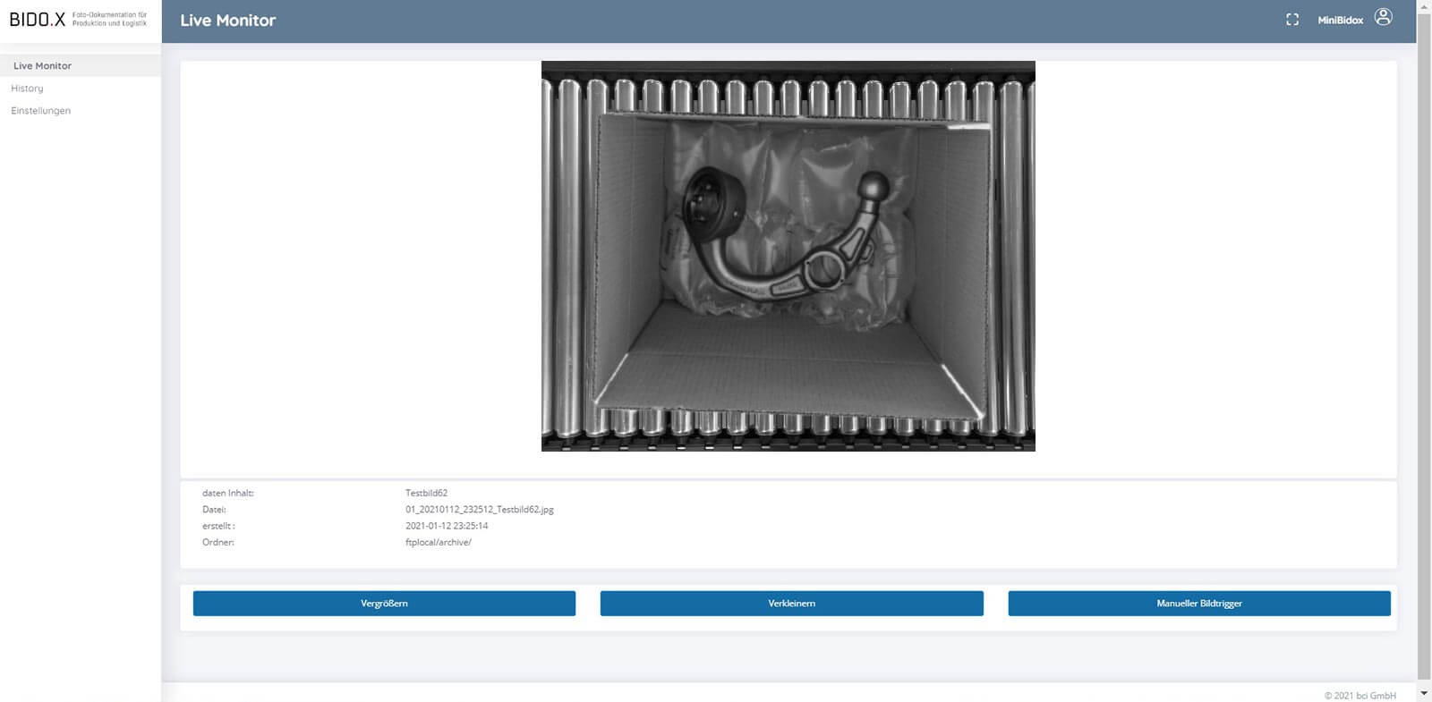 BIDO.X Screenshot der Anwendung - Live Monitor V5