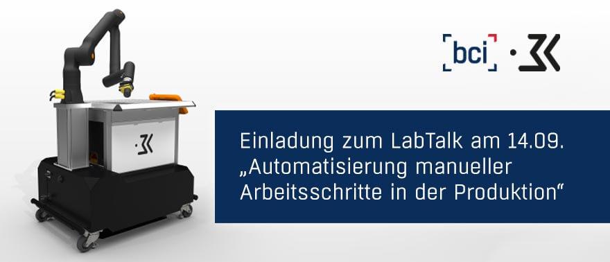 Newsmeldung Einladung zum LabTalk - 120821