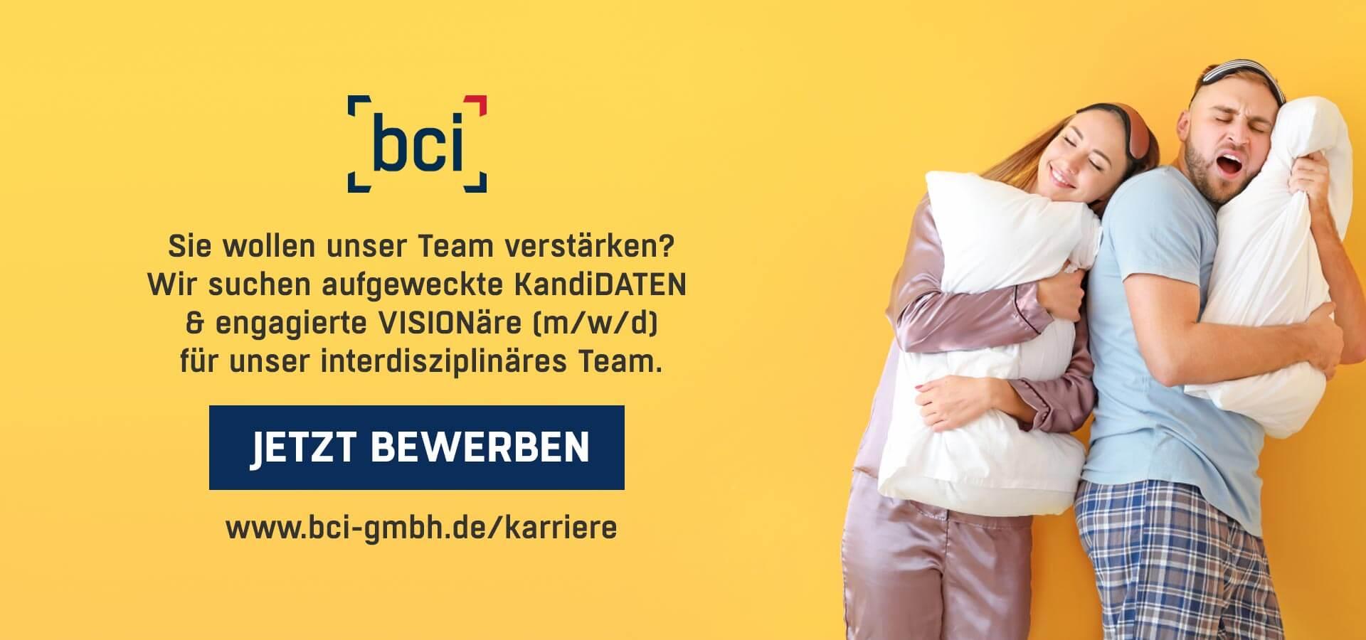 bci GmbH Karriere Aufgeweckte Kandidaten OG