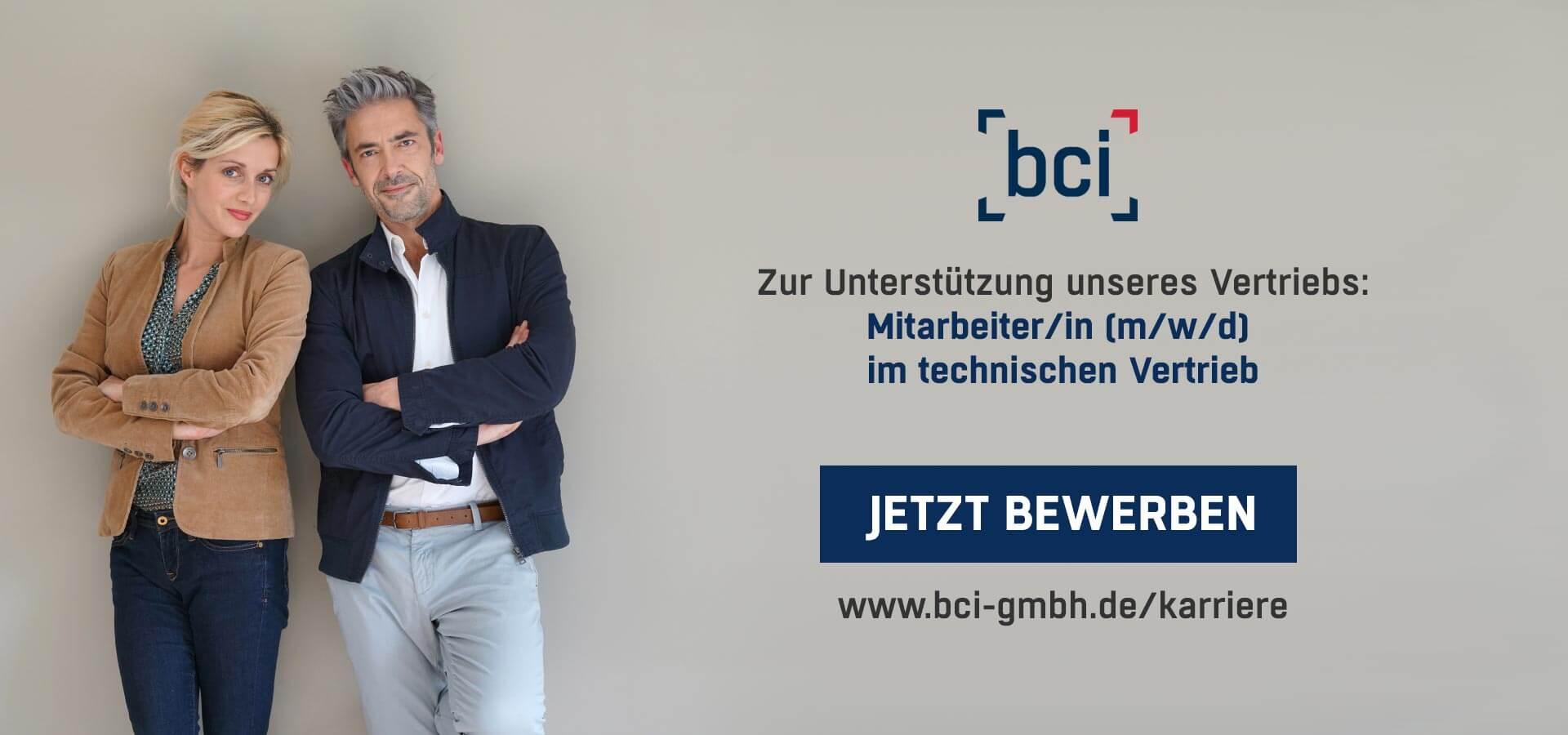 bci GmbH Karriere Vertriebsaussendienst OG